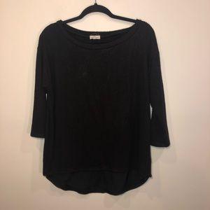 Silence + Noise Black Trim Detail Sweater